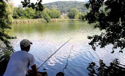 pesca nel lago